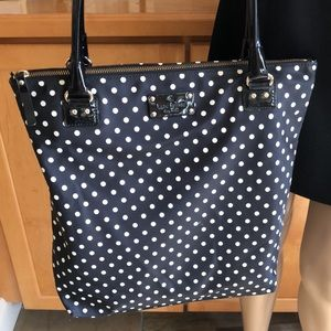 Classic Kate Spade Black & White Polka Dot Bag